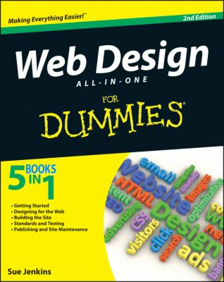 Web Design All-in-One for Dummies�  2nd 2012 edition cover