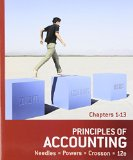 Principles of Accounting: Chapters 1-13  2013 9781133593102 Front Cover