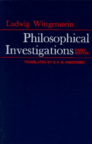 Philosophical Investigations  3rd 1973 (Revised) 9780024288103 Front Cover