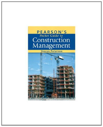 Pearson's Pocket Guide to Construction Management   2012 edition cover