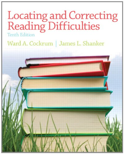 Locating and Correcting Reading Difficulties  10th 2013 (Revised) edition cover
