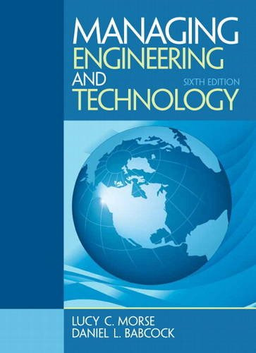 Managing Engineering and Technology  6th 2014 edition cover