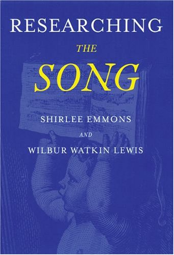 Researching the Song A Lexicon  2008 edition cover