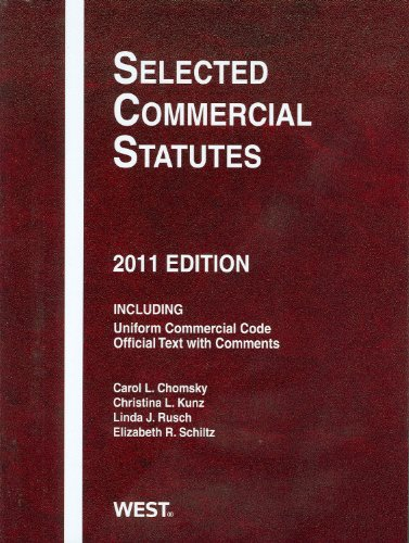 Selected Commercial Statutes 2011   2011 9780314275103 Front Cover