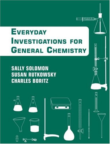 Chemistry An Everyday Approach to Chemical Investigation  2009 9780470085103 Front Cover