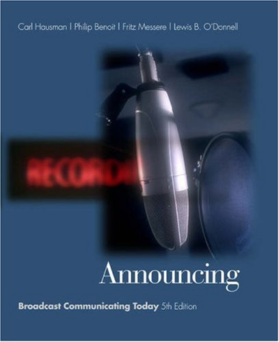 Announcing Broadcast Communicating Today 5th 2004 (Revised) 9780534563103 Front Cover