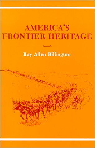 America's Frontier Heritage   1975 (Reprint) edition cover