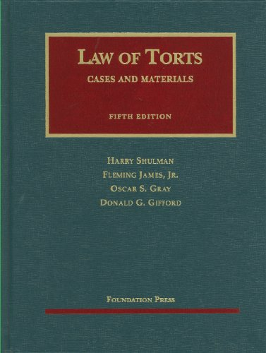 Cases and Materials on the Law of Torts  5th 2010 (Revised) edition cover