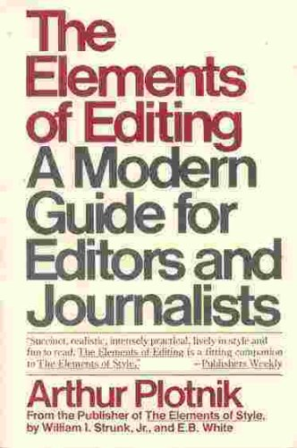 Elements of Editing N/A 9780020474104 Front Cover