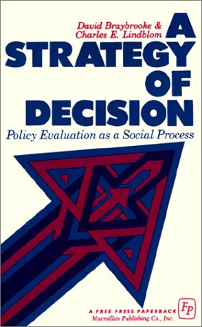 Strategy of Decision Policy Evaluation as a Social Process  1970 (Reprint) edition cover