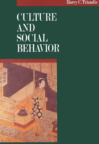 Culture and Social Behavior   1994 9780070651104 Front Cover