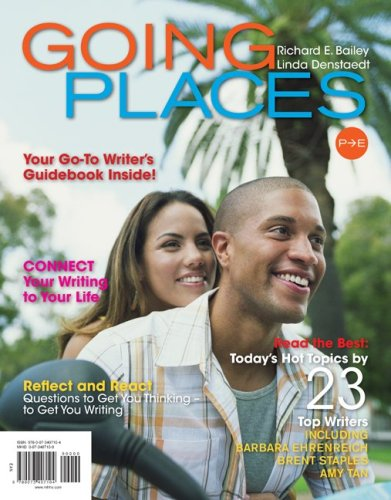 Going Places Your Go-To Writer's Guidebook Inside! - Connect Your Writing to Your Life - Reflect and React Questions to Get You Thinking - To Get You Writing  2010 edition cover