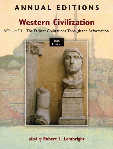 Western Civilization The Earliest Civilizations Through the Reformation 16th 2012 edition cover