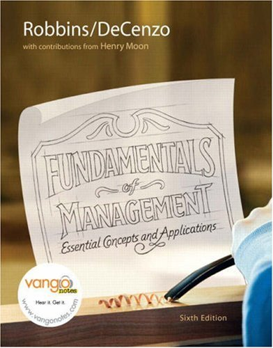 Fundamentals of Management Essential Concepts and Applications 6th 2008 edition cover