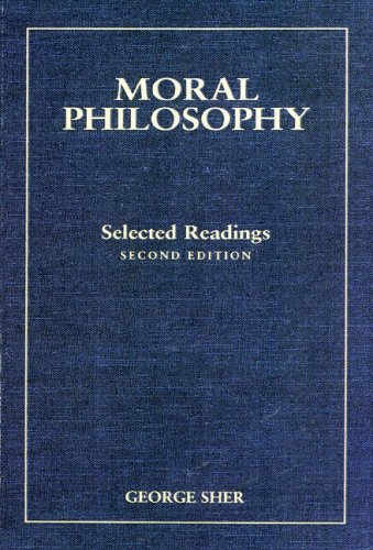 MORAL PHILOSOPHY-SELECTED READ 2nd 1996 edition cover