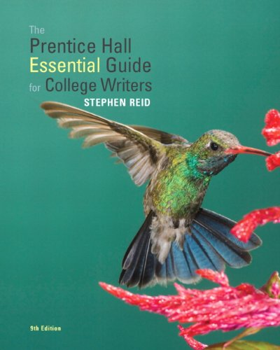 Prentice Hall Essential Guide for College Writers  9th 2011 edition cover
