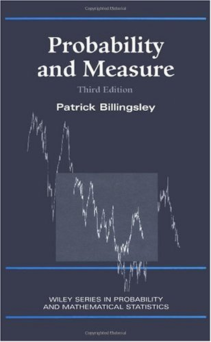 Probability and Measure  3rd 1995 (Revised) edition cover