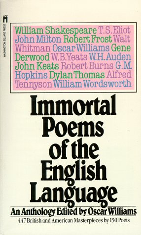 Immortal Poems of the English Language   1952 edition cover
