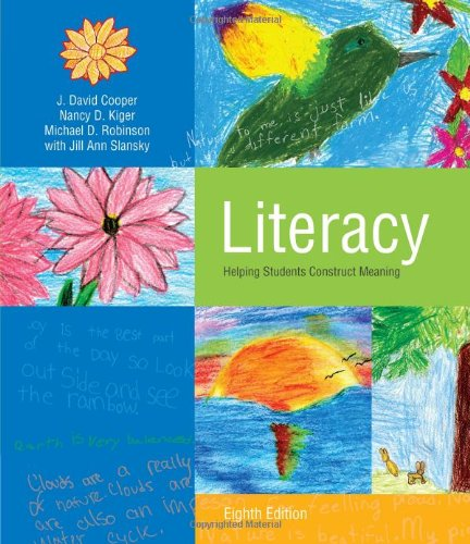 Literacy Helping Students Construct Meaning 8th 2012 9781111298104 Front Cover