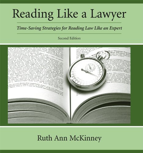 Reading Like a Lawyer Time-Saving Strategies for Reading Law Like an Expert 2nd 2012 9781611631104 Front Cover