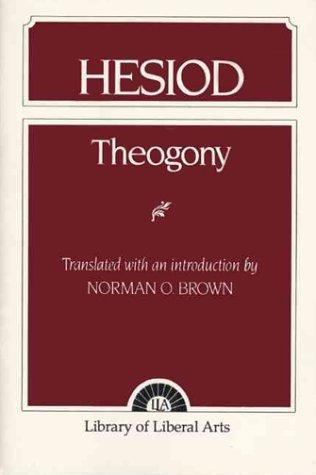 Hesiod Theogony  1953 edition cover