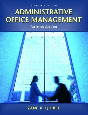 Administrative Office Management An Introduction 8th 2005 edition cover