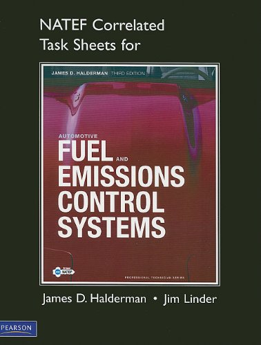 NATEF Correlated Task Sheets for Automotive Fuel and Emissions Control Systems  3rd 2012 (Revised) 9780132545105 Front Cover