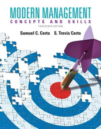 Modern Management  13th 2014 9780133254105 Front Cover