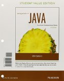 Starting Out With Java: Control Structures Through Objects, Student Value Edition  2015 edition cover
