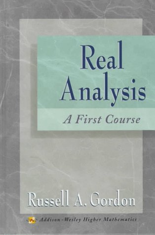 Real Analysis A First Course  1997 edition cover