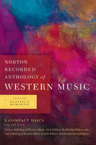 Norton Recorded Anthology of Western Music  6th 2009 edition cover