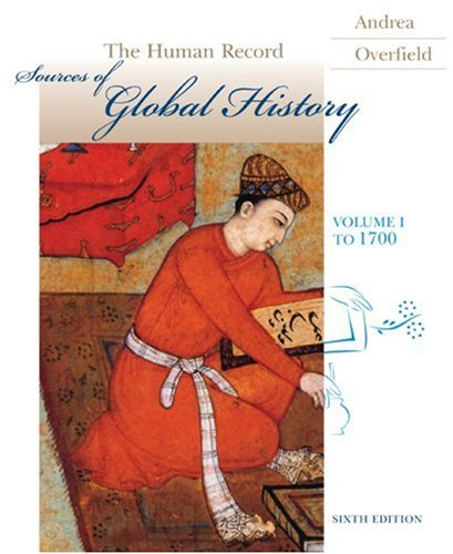 Human Record Sources of Global History to 1700 6th 2009 edition cover