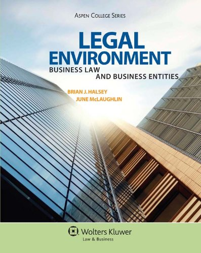 Legal Environment Business Law and Business Entities N/A edition cover