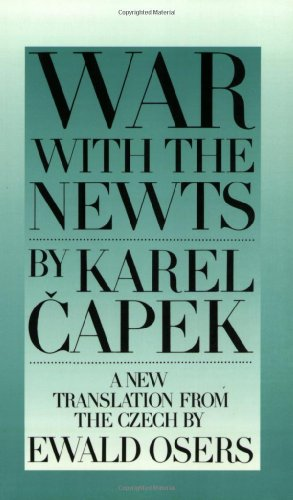 War with the Newts   2001 edition cover