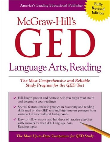 McGraw-Hill's GED Language Arts, Reading   2003 9780071407106 Front Cover