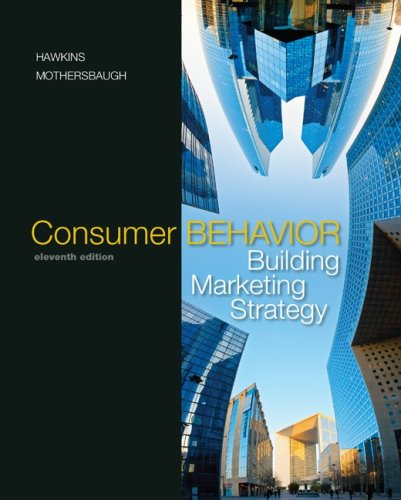 Consumer Behavior Building Marketing Strategy 11th 2010 edition cover