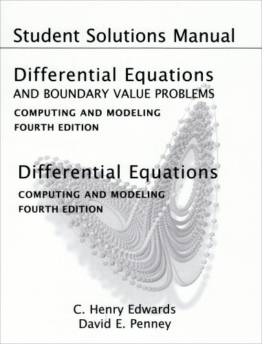 Differential Equations and Boundary Value Problems Computing and Modeling 4th 2008 edition cover