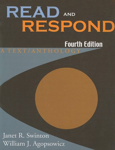 Read and Respond A Text / Anthology 4th 2004 edition cover