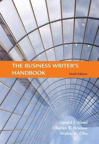 Business Writer's Handbook  9th 2009 (Revised) edition cover
