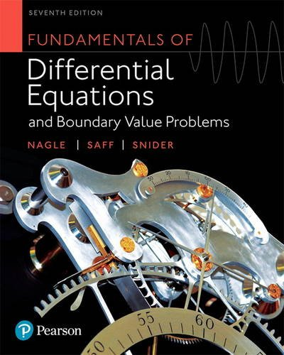 Fundamentals of Differential Equations and Boundary Value Problems  7th 2018 9780321977106 Front Cover