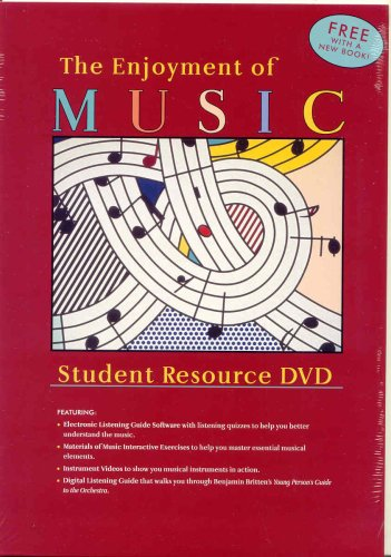 Enjoyment of Music 10E + Student DVD  10th 2007 edition cover