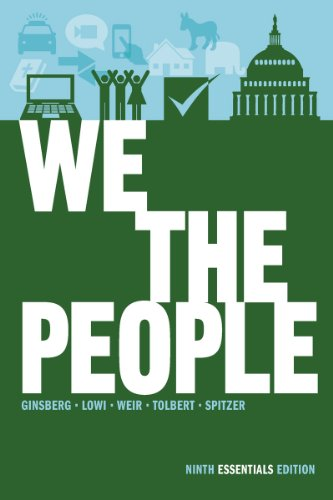 We the People An Introduction to American Politics 9th 2012 9780393921106 Front Cover