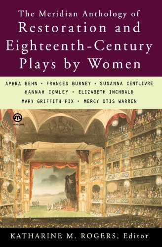 Meridian Anthology of Restoration and Eighteenth-Century Plays by Women  N/A edition cover