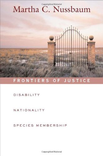 Frontiers of Justice Disability, Nationality, Species Membership  2006 9780674024106 Front Cover