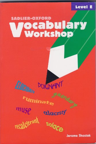Vocabulary Workshop : Level E  2002 (Student Manual, Study Guide, etc.) edition cover