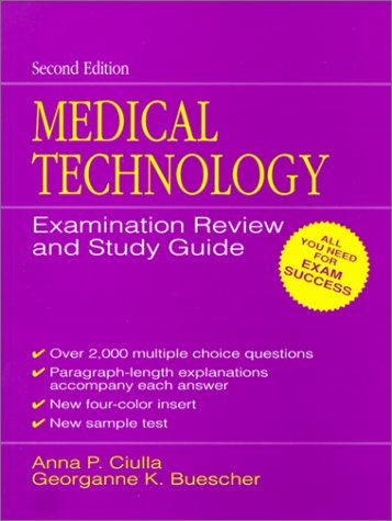 Medical Technology Examination Review and Study Guide  2nd 1992 edition cover