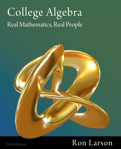 College Algebra Real Mathematics, Real People 6th 2012 edition cover