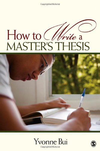 How to Write a Master's Thesis   2009 edition cover