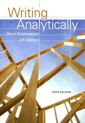 Writing Analytically  5th 2009 (Revised) edition cover
