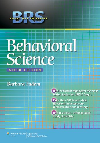 BRS Behavioral Science  6th 2013 (Revised) edition cover